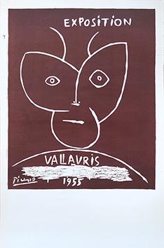 Linogravure originale de  : Exposition Vallauris 1955