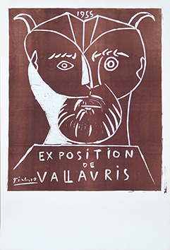 Original linocut de  : Exhibition Vallauris 1955 II