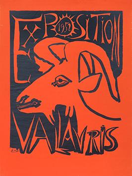 Affiche originale de  : Exposition Vallauris