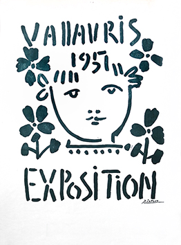Original poster de  : Exhibition Vallauris 1951