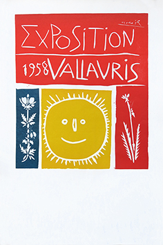 Original linocut de  : Exhibition Vallauris 1958