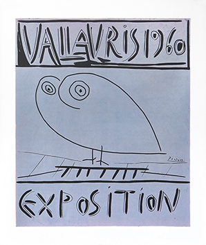 Original linocut de  : Exhibition Vallauris 1960