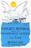 Plakat Mourlot Drucker de  : Congrés mondial pour le désarmement...