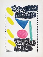 Ausstellung Offsetplakat de  : Exposition Peinture Vallauris 1956 II