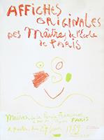 Signierte Originallithographie de  : Affiches originales des Maîtres de l'école de Paris