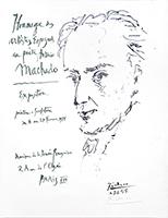 Manifesto di mostra offset de  : Hommage des artistes Espagnols au poète Antonio Machado