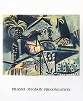Affiche d'exposition Mourlot de  : Picasso Avignon