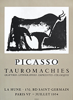 Lithographieplakat de Picasso Pablo : Picasso Tauromachies
