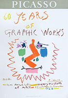 Manifesto originale Mourlot de Picasso Pablo : 60 years of Graphik Work