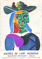 Mourlot exhibition poster de Picasso Pablo : Woman with Hat