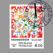 timbre postal de Manessier Alfred