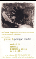 Affiche d'exposition Boudin Philippe