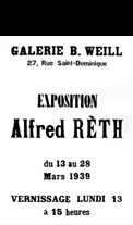 Affiche d'exposition Reth Alfred