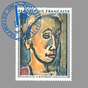 timbre postal de Rouault Georges