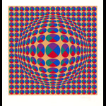 Estampe, lithographie, gravure, Vasarely Victor