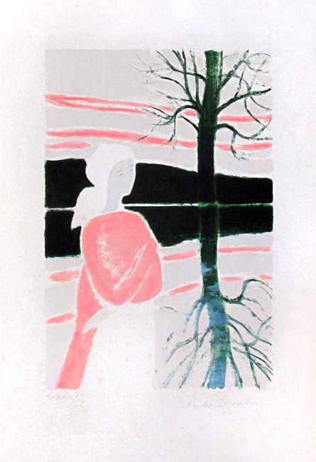 Brasilier Andr� : Original signed lithograph : Impression du soir