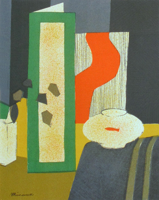 Minaux Andr� : Original lithograph : Interior