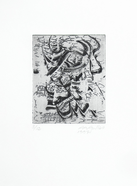 Aullas Arne : Original signed etching : Composition I