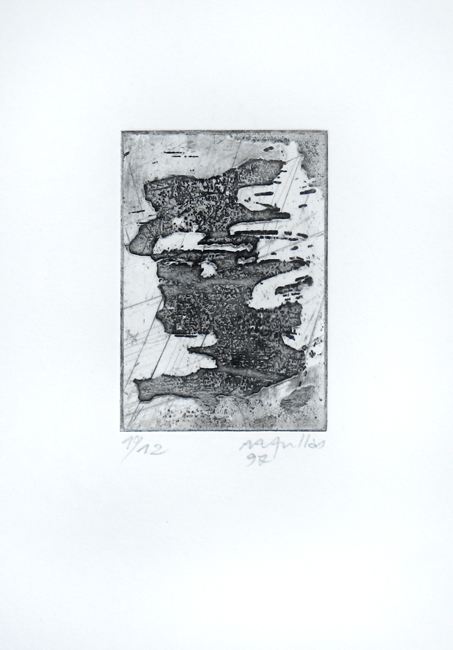 Aullas Arne : Original signed etching : Composition II