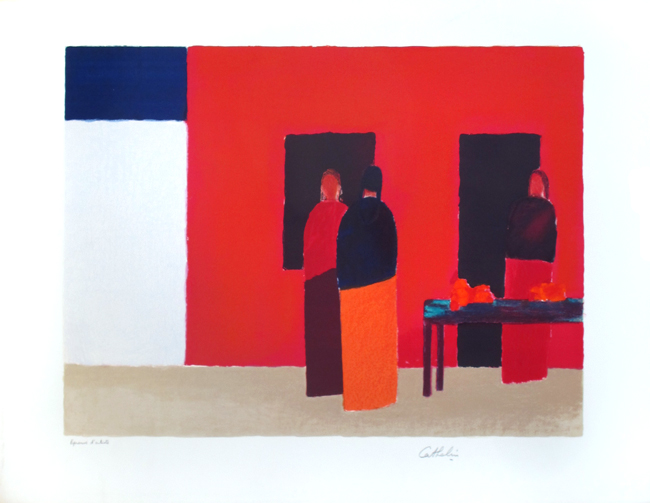 Cathelin Bernard : Original signed lithograph : Unknown Title