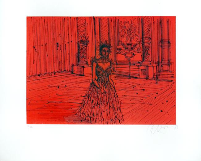 Carzou Jean : Original signed lithograph : La Reine