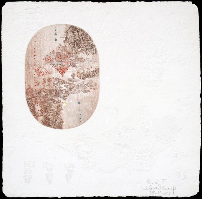 Lebadang Thu Xanh : Original signed etching : Landscape