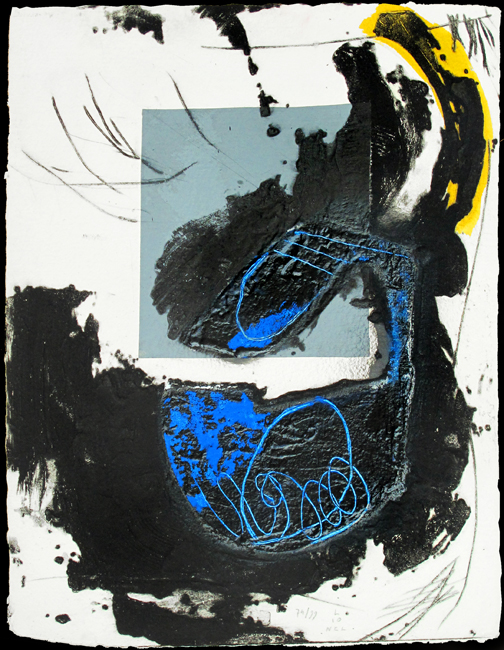 Lionel Perrotte : Original signed carborundum : Composition I