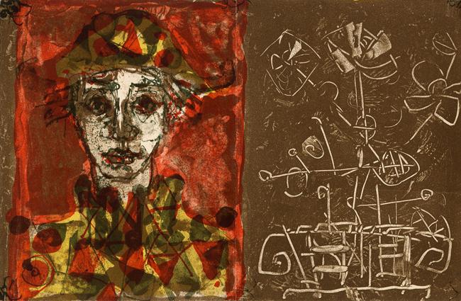 Aizpiri Paul : Lithographie originale : Carte de voeux