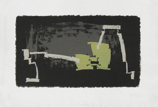 Alva Siegfried : Lithographie originale signée : Composition II
