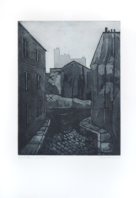 Halbirk Torden Bo : Original signed etching : Paris