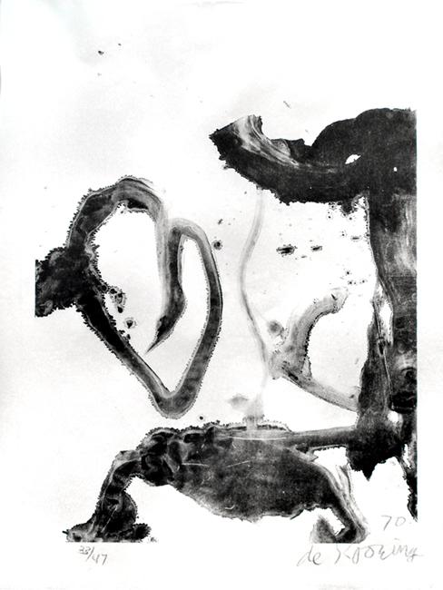 De Kooning Willem : Lithographie originale signée : Valentine