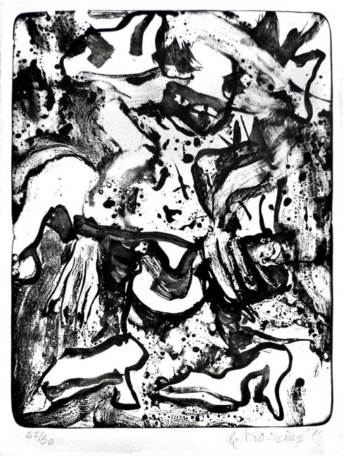 De Kooning Willem : Lithographie originale signée : Minnie Mouse