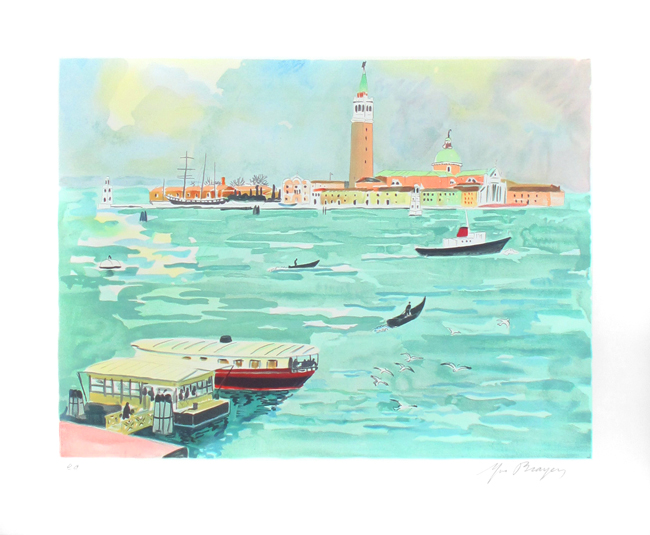 Brayer Yves : Original signed lithograph : Venise