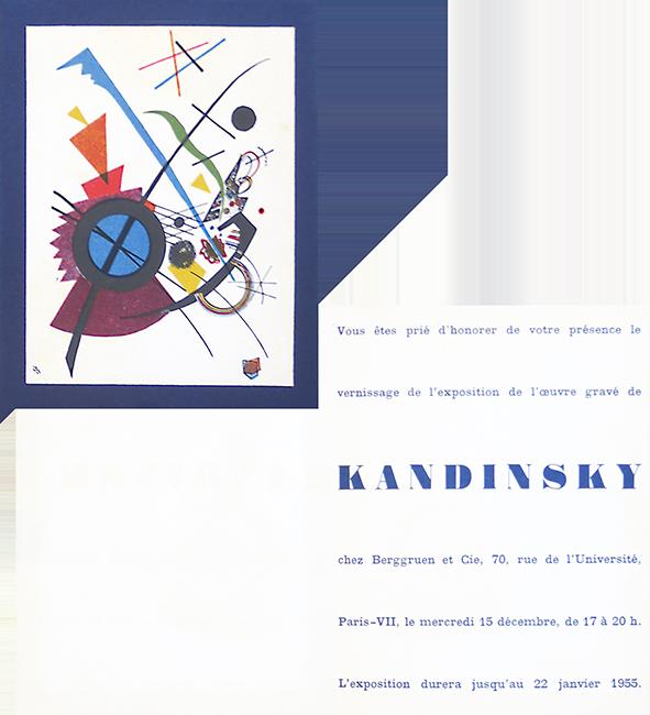 Exhibition Invitation Card Kandinsky Wassily Estampes