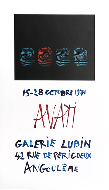 Screenprint poster de  : Poster for the exhibition at Galerie Lubin