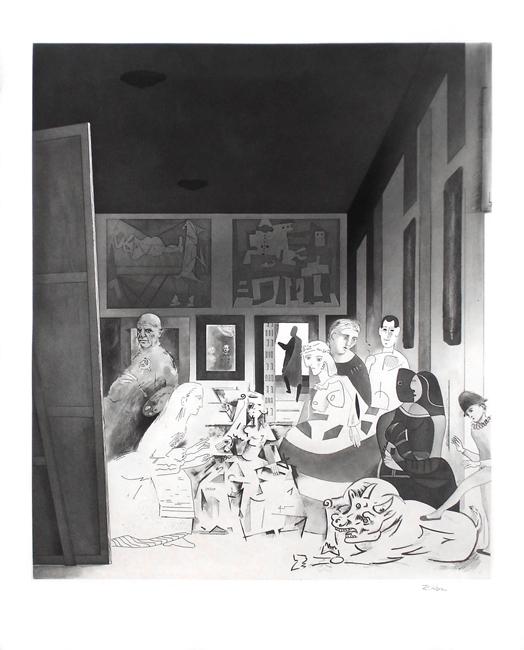 Hamilton Richard : Gravure originale signée : Picasso's Meninas