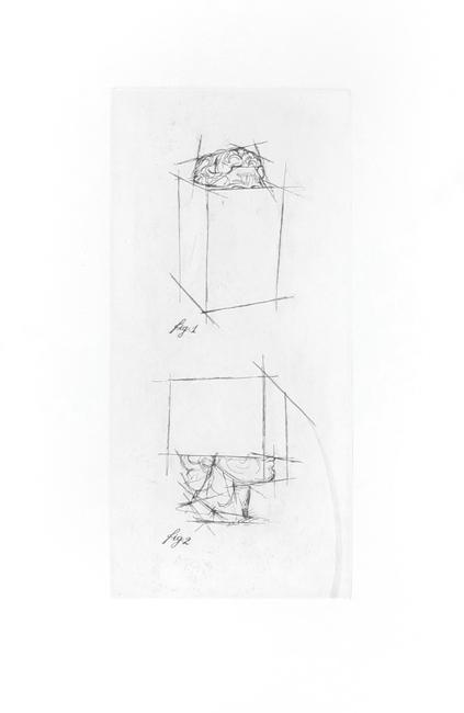 Sosno Sacha : Original etching : Etude de tête au carré III