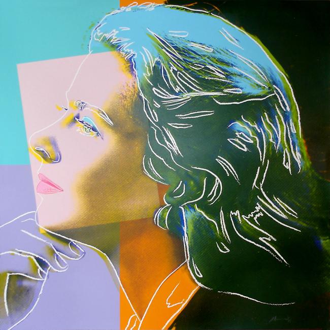 Warhol Andy : Sérigraphie originale signée : Ingrid Bergman : herself