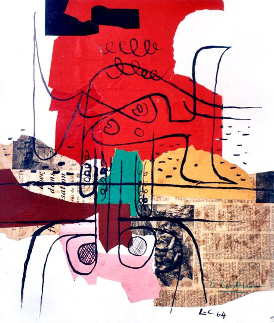 Le Corbusier : Technique mixte avec collage : Composition