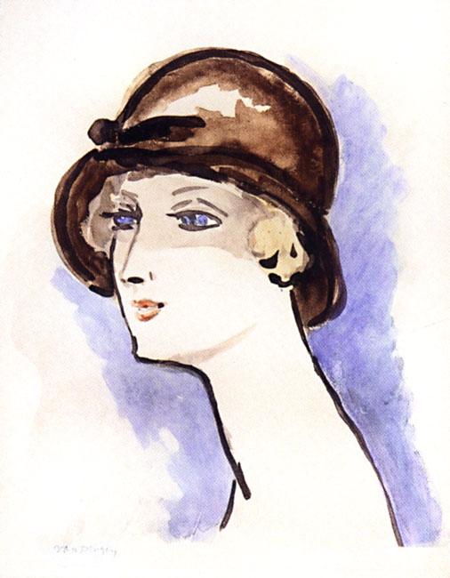 Van Dongen Kees : Lithographie : Femme avec chapeau
