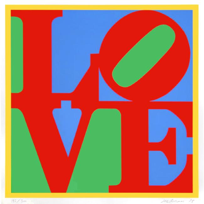 Indiana Robert : Sérigraphie originale signée : Heliotherapy-Love
