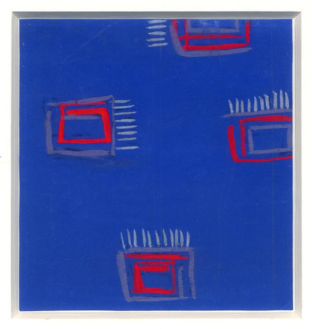 Dufy Raoul : Gouache originale : Projet d'imprimé III