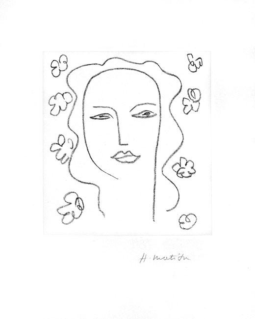 Matisse Henri : Lithographie originale : Madeleine, Etude