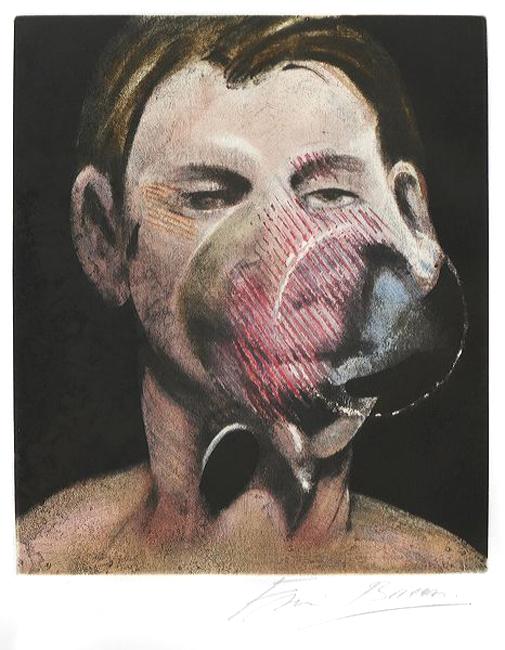 Bacon Francis : Gravure signée : Portrait de Peter Beard
