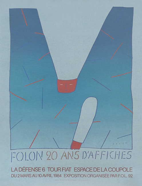 Offset exhibition poster de  : Folon 20 ans d'affiches