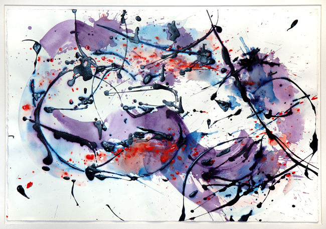 Francis Sam : Aquarelle originale : Composition