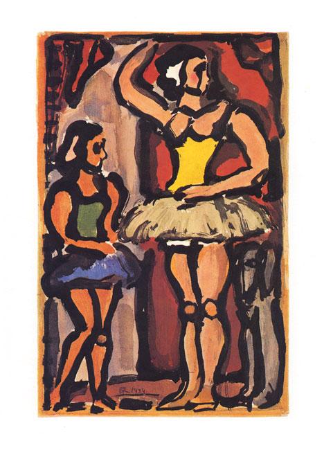 Rouault Georges : Gravure originale : Les Ballerines
