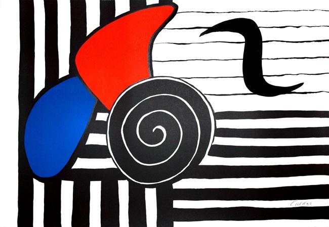 Calder Alexander : Lithographie originale signée : Hélices