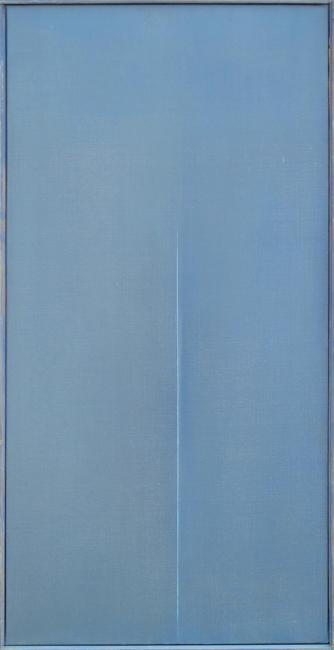 Asse Geneviève : Huile originale signée : Profondeur bleue