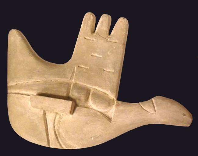 Le Corbusier : Sculpture : Maquette, La main ouverte